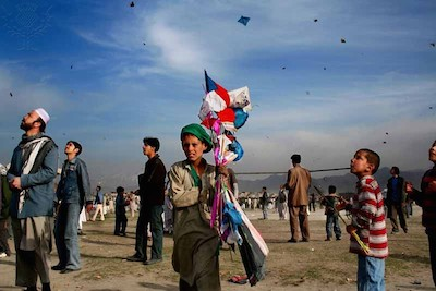 The Kite Festival, on the Persian New Year or 'Nowruz', at Chaman-e-Uzuri, Kabul, Afghanistan. March 23, 2006.. Photography. Encyclopædia Britannica ImageQuest. Web. 9 Jan 2015.