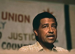 """César Chávez delivers speech in 1972."" Image. National Archives. The American Mosaic: The Latino American Experience. ABC-CLIO, 2014. Web. 19 Mar. 2014."