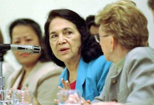 Deloris Huerta, co-founder of the United Farm Workers and founding board mem